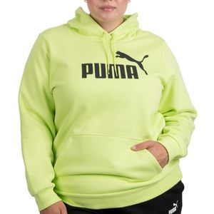 PUMA Plus Sized Green Hooded Pullover Sweatshirt